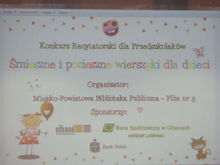Konkurs Recytatorski Przedszkole Miejskie Nr 8 W Lublińcu