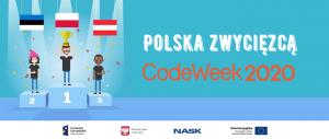 Logo Polska Zwycięzcą CodeWeek2020